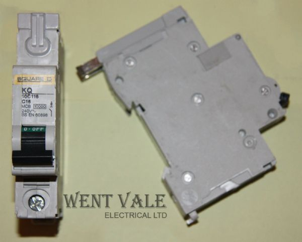 Square D Loadcentre - KQ10C116 - 16a Type C Single Pole MCB Used